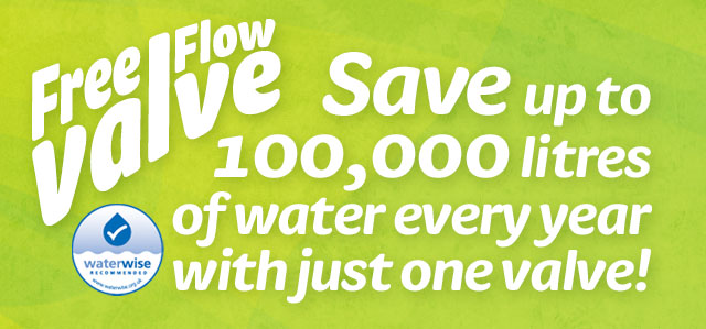 Save up to 100,000 litres of water